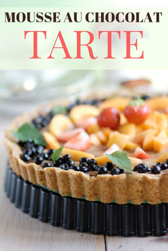 Kuchen Mousse au chocolat Rezept Tarte