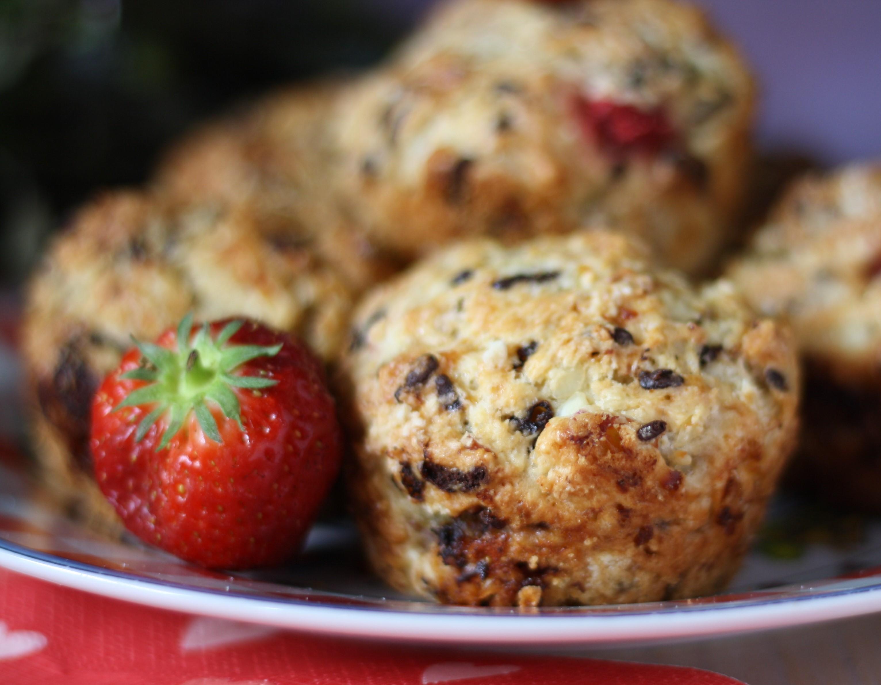 Schoko Erdbeer Muffins mit Erdbeere Naschen mit der Erdbeerqueen