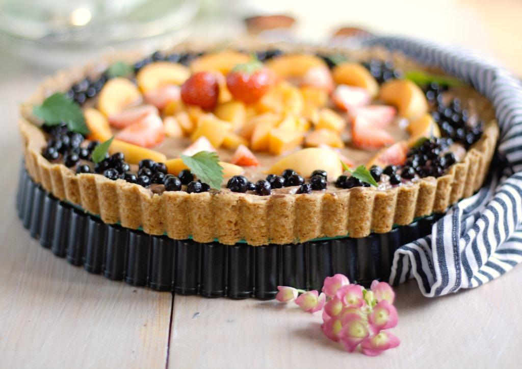 Tarte mit Mousse au chocolat und Früchten Schokoladentarte von Naschen mit der Erdbeerqueen