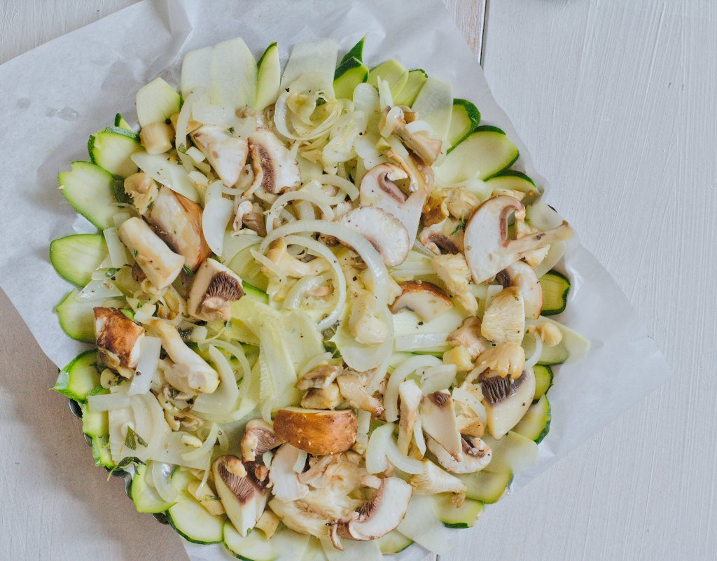 Pilz Zucchini Auflauf gefüllt