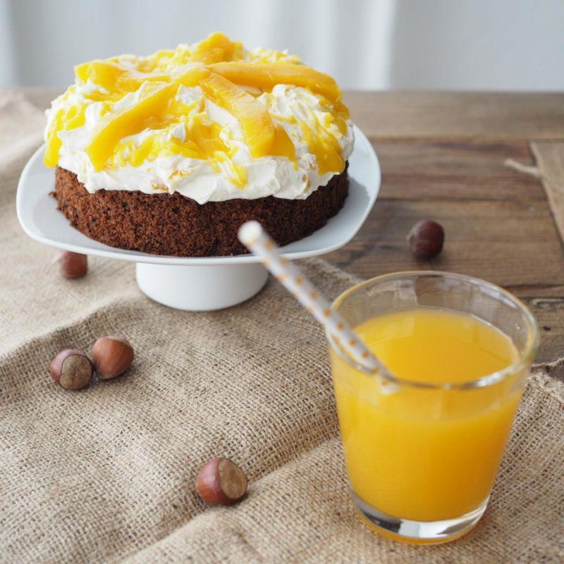 Mango Mascarpone Torte