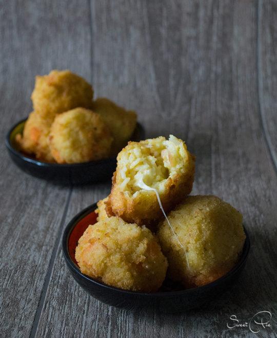 Rezept für Arancini gefüllte Reisbällchen von Sweet Pie