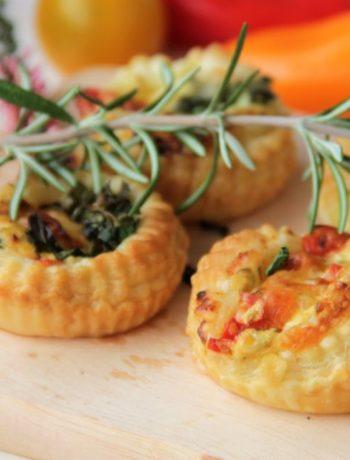 Blaetterteigpaeppchen Fingerfood für Silvester Snack