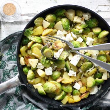 Rezept Rosenkohl Gemüse Pfanne