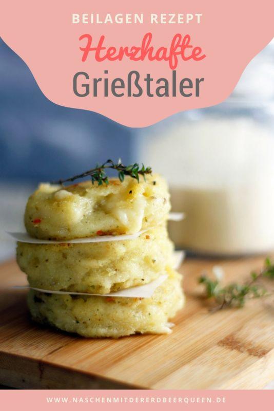 Grieß mal anders. Ein Grieß Rezept in herzhafter Variante als Taler ausgestochen und mit Käse und Thymian verfeinert. Eine köstliche Beilage für euer Mittagessen oder Abendessen.