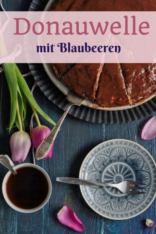 Donauwelle Rezept mit Blaubeeren und Buttercreme von Naschen mit der Erdbeerqueen