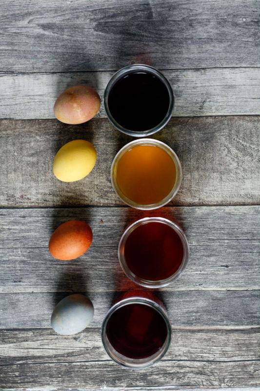 Ostereier mit Naturfarben färben. DIY für selbst gefärbte Ostereier mit Naturfarben.