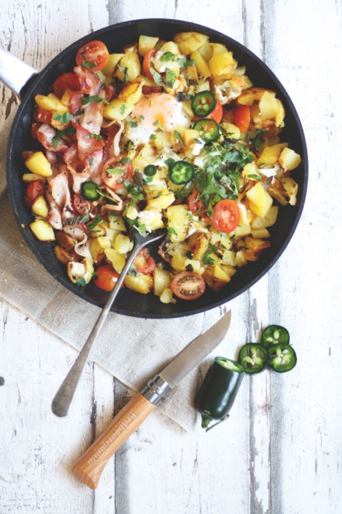 rezept leckere einfache bratkartoffeln mit ei und speck