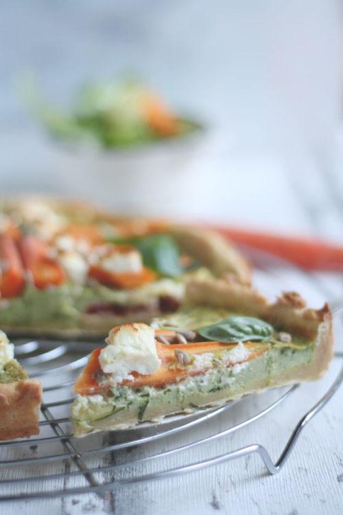 Gemüsekuchen selbst gemacht einfach und vegetarisch für Picknick Grillen oder als Mittagessen