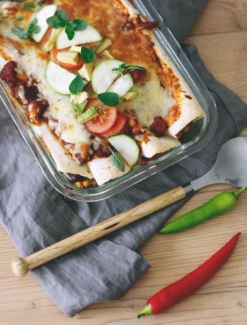 Enchiladas selber machen so geht es ganz einfach. Enchilada Rezept vegetarisch