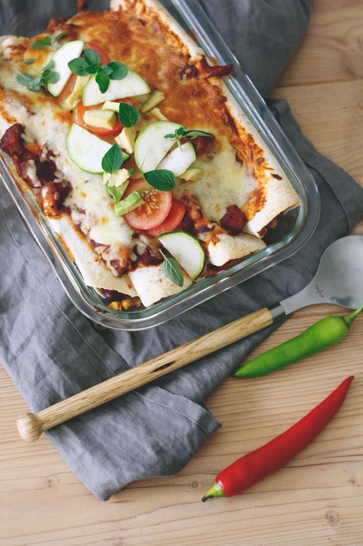Einfaches und schnelles Enchiladas Rezept vegetarisch