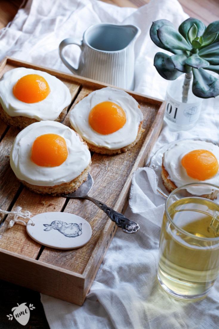 Blechkuchenrezept: Spiegeleikuchen