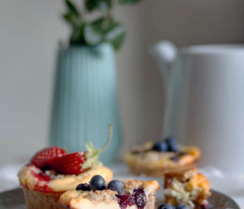 Rezept käsekuchen muffins mit streusel
