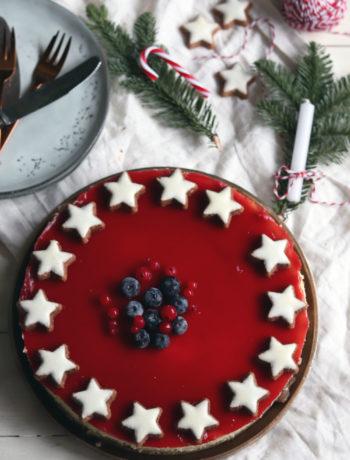 Einfaches Cheesecake Rezept. Backe meinen Cheesecake mit Frischkäse und Fruchtspiegel nach. Ideal als Weihnachtskuchen.