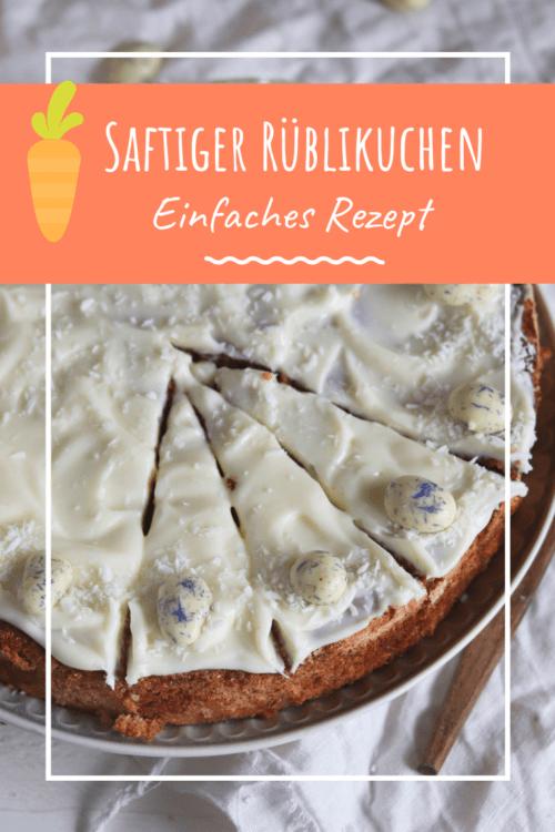 Oster Rezept: Karottenkuchen mit Frosting und Mandeln. Saftiger Karottenkuchen mit Frischkäsefrosting. Schweizer Rüblikuchen backen mit diesem einfachen Rezept.  #Rüblitorte #rüblikuchen #möhrenkuchen