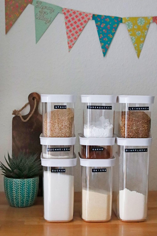 Ordnung in der Küche mit Vorratsdosen für die Küche & Tipps
