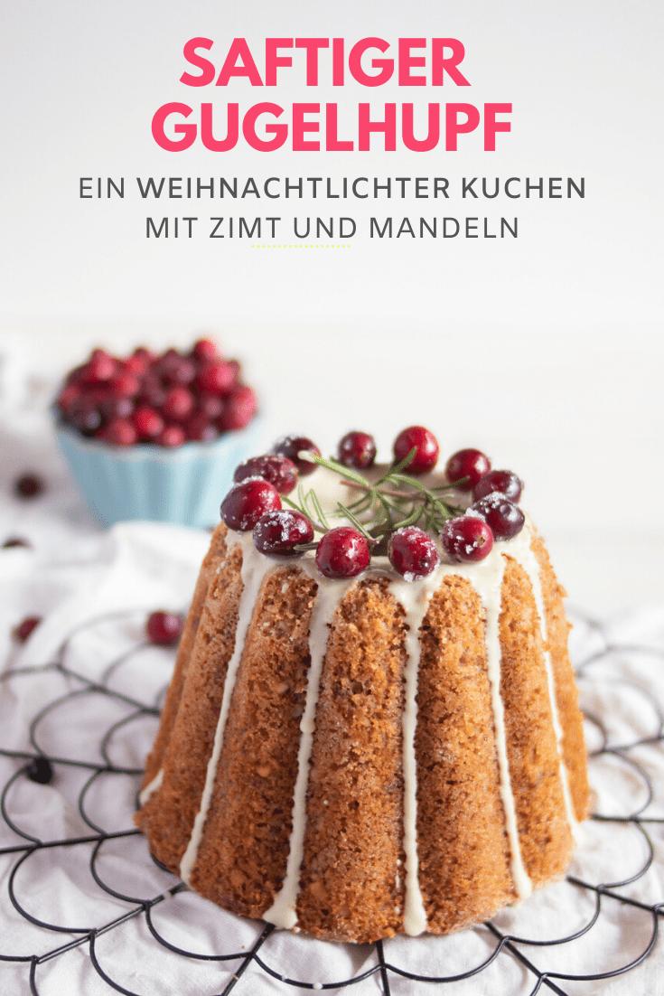 Rezept safiger Gugelhupf mit Zimt und Mandeln. Ein einfacher Rührkuchen mit Mandeln. Gugelhupf für Weihnachten #weihnachtskuchen #rührkuchen #gugelhupf #foodstyling