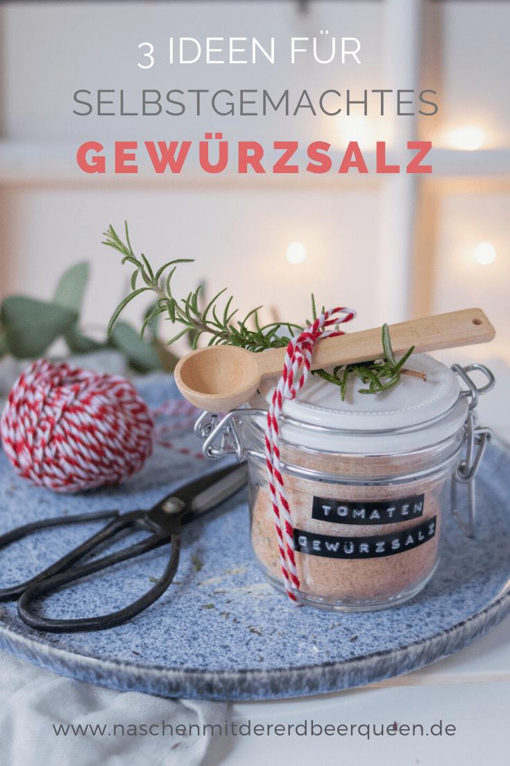 Gewürzsalz selber machen. Ein tolles Geschenk aus der Küche. Eine Anleitung wie du Kräutersalz selber machen kannst. Außerdem Zitronensalz und Gewürzsalz mit Paprika. Ein perfektes Last Minute Weihnachtsgeschenk #geschenkausderküche #gewürzsalz #salz #weihnachtsideen