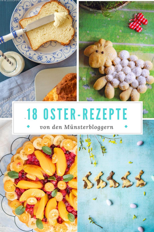DIe besten Osterrezepte für den Osterbrunch, Osterkaffee oder das Osterfrühstück. Rezeptsammlung für Ostern. #osterrezept #karottenkuchen #möhrenkuchen und mehr