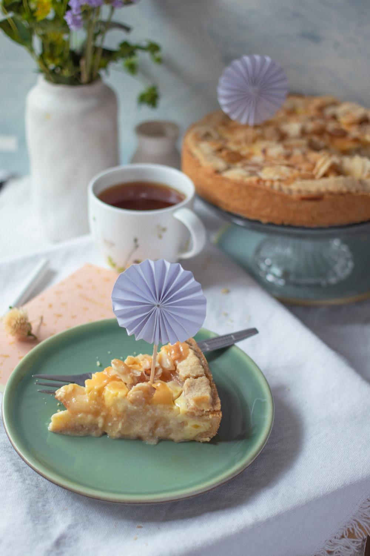 Rezept saftiger Birnenkuchen mit Pudding