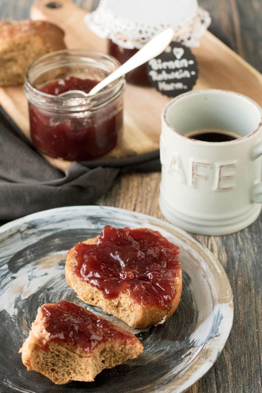 Birnen Rotwein Marmelade