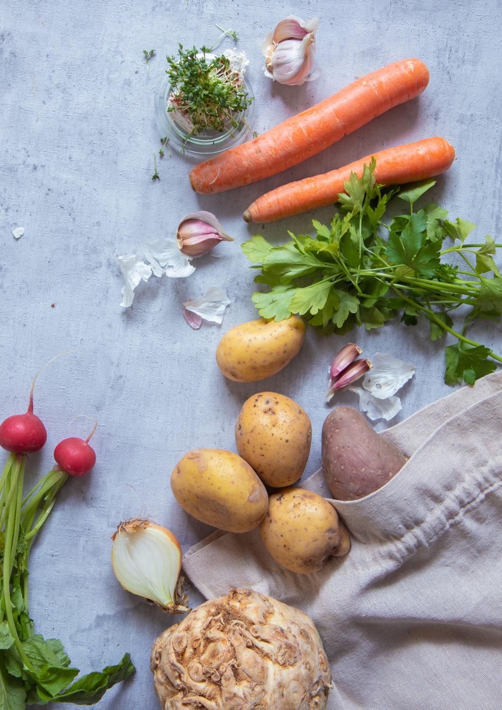 Zutaten für Kartoffelsuppe